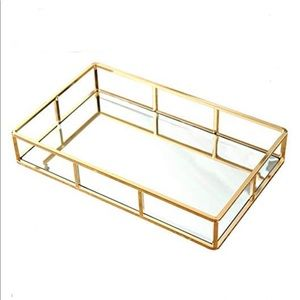 Other - NWOT Gold Mirrored Jewelry Perfume Tray Holder